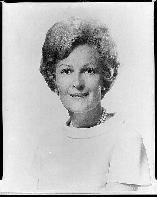 1969-1974: Pat Nixon encouraged volunteer service as First Lady, and added 600 paintings and antiques to the White House Collection. She also traveled with her husband, but her first solo trip was to take relief supplies to earthquake victims in Peru.