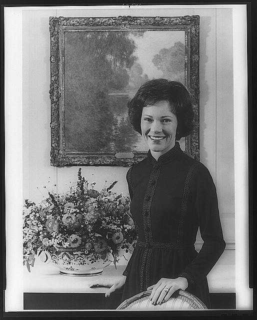 1977-1981: Rosalynn Carter focused national attention on the performing arts, and took a strong interested in programs to aid mental health, the community, and the elderly. She also served as the President's personal emissary to Latin American countries.