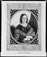 1845-1849: Sarah Childress Polk privately helped her husband with his speeches, copied his correspondence, and gave him advice. She enjoyed politics, but warned James Polk against overwork.
