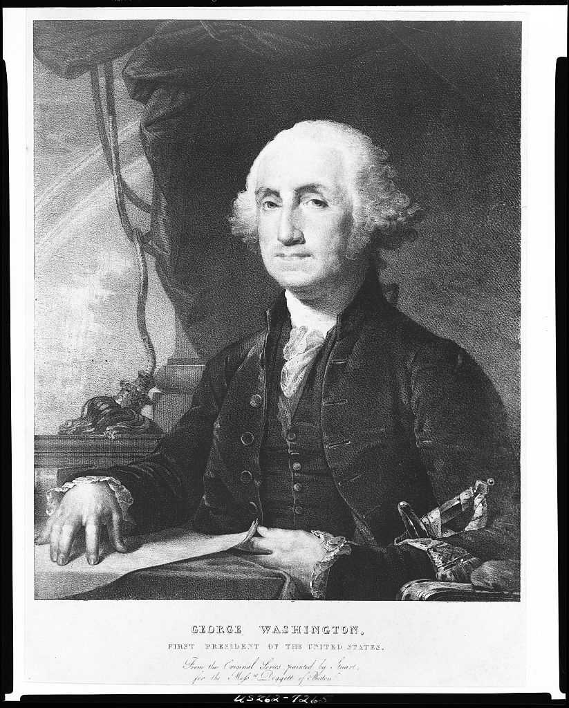1789-1797: George Washington became the first President of the United States unanimously when the new Constitution was ratified. By the end of his first term, the two political parties started to form.