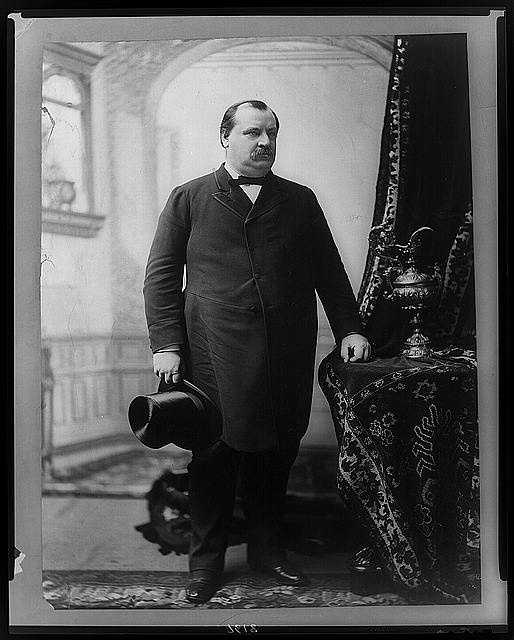 1885-1889: Grover Cleveland was the first Democrat elected after the Civil War. He pursued a policy barring special favors to any economic group, and called on Congress to reduce high protective tariffs.