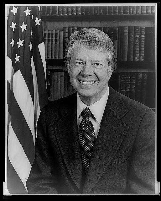 1977-1981: Jimmy Carter worked to combat the economic woes of the U.S. and was able to claim an increase of nearly eight million jobs and a decreased in the budget deficit. He obtained ratification of the Panama Canal treaties and established full diplomatic relations with the People's Republic of China.