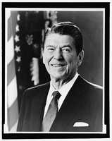 1981-1989: Ronald Reagan was shot only 69 days after he took office, but recovered and returned to duty. He stimulated economic growth, curbed inflation, increased employment, and strengthened national defense. His two terms saw the Nation's longest recorded period of peacetime success.