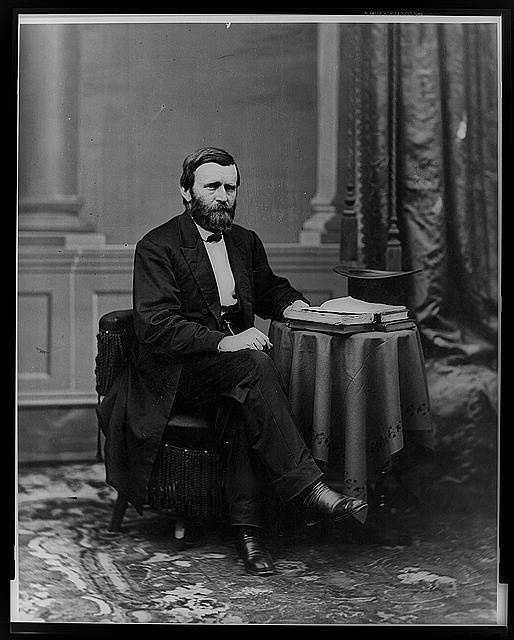 1869-1877: Ulysses S. Grant presided over the Government much as he ran the Army. While he was an honest man, Grant accepted handsome presents from admirers. In addition, he bolstered Radical Reconstruction at times with military force.
