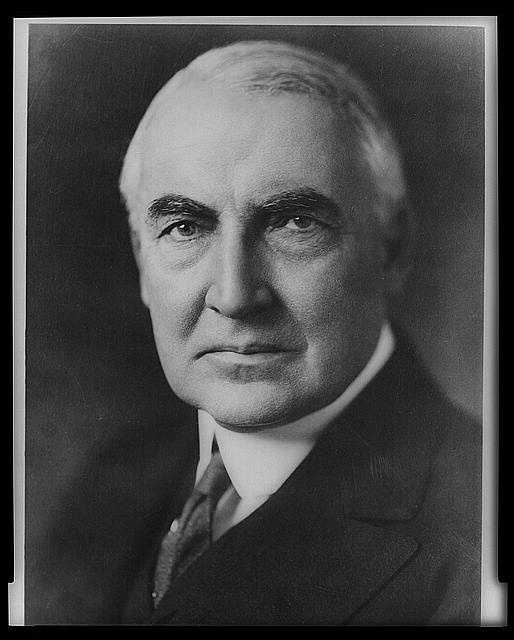1921-1923: Warren G. Harding eliminated wartime control and slashed taxes, established a Federal budget system, restored the high protective tariff, and imposed tight legislations upon immigration.