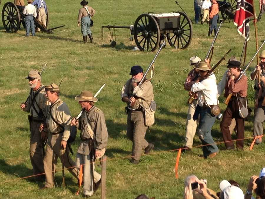 Friday was the first day of battle re-enactments.