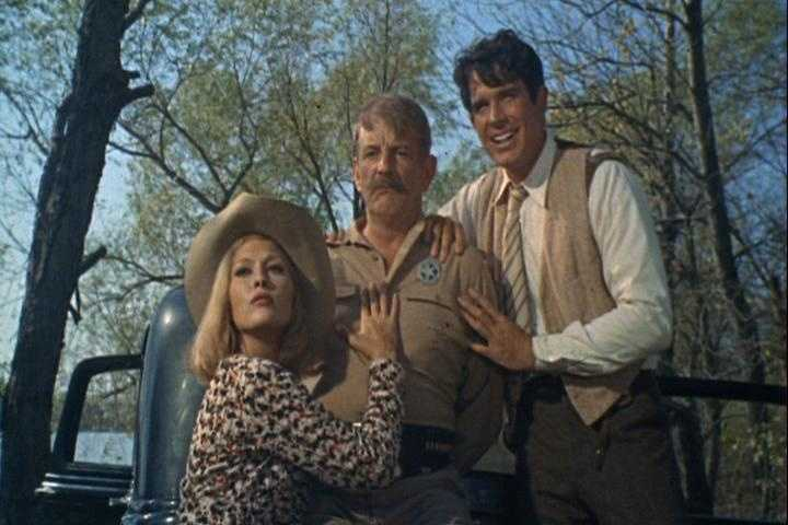 In somewhat romantized film Bonnie & Clyde featuring Warren Beatty and Faye Dunaway, a bored small-town girl and a small-time bank robber leave in their wake a string of violent robberies and newspaper headlines that catch the imagination of the Depression-struck Mid-West in this take on the legendary crime spree of these archetypal lovers on the run.