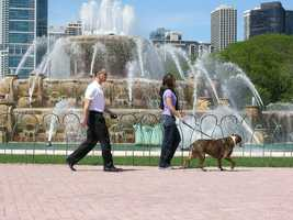 """California: In Belvedere, a City Council order says, """"No dog shall be in a public place without its masters on a leash."""" While most states require dogs to be on their leash, it's the wording in this one that's a little off."""