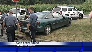 Shortly after 7 p.m. Thursday, the vehicle went off the road and ramped up onto the porch.