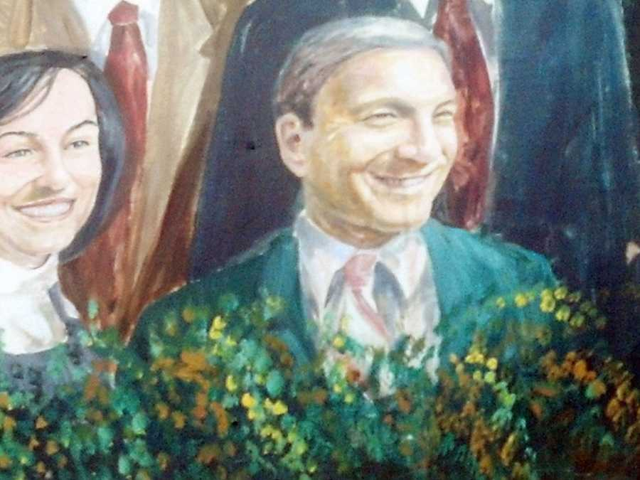 ...  and he is not sure what he will do with the depiction of former President Graham Spanier.