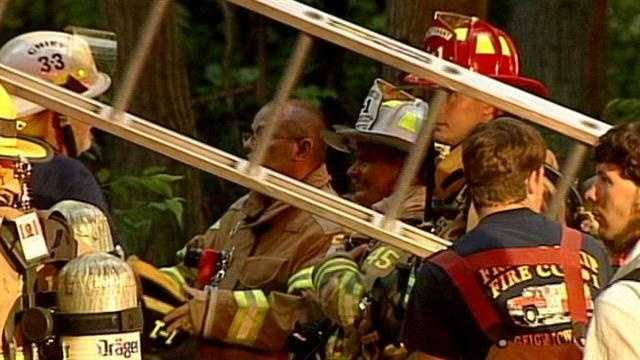 An oxygen tank exploded in a home Wednesday in the 1100 block of Poplar Drive, police said.