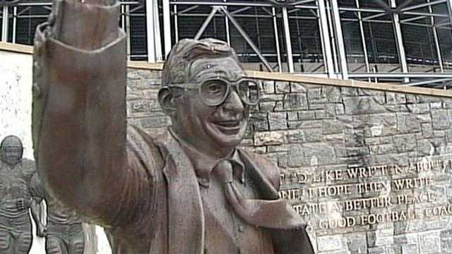 Statue of former Penn State Coach Joe Paterno will be removed, says University President Rodney Erickson.