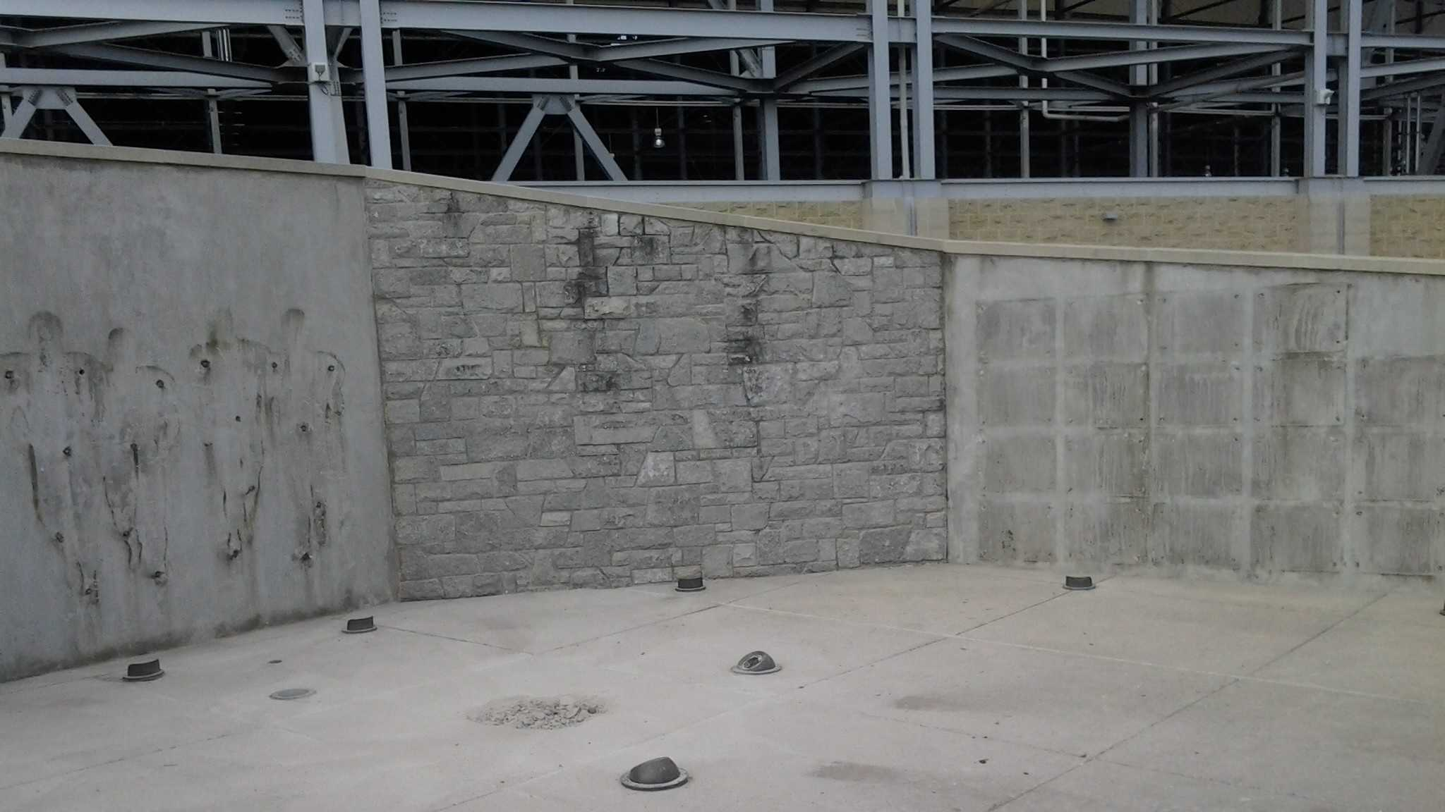 The spot where Joe Paterno's statue once stood is now bare after Penn State University's decision to remove it.