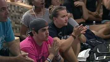 Penn State students gathered at the student union Monday morning to hear the sanctions announced by the NCAA.