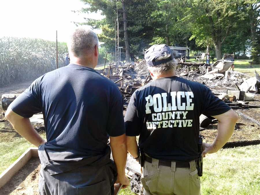 Fire destroyed a modular home on Shelly Island in the Susquehanna River early Tuesday.