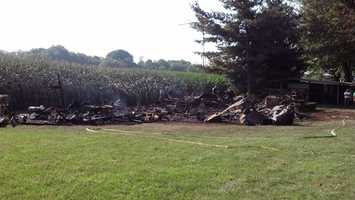 Fire officials have not determined an exact cause of the fire on lot 56, but have no reason to think it's suspicious.