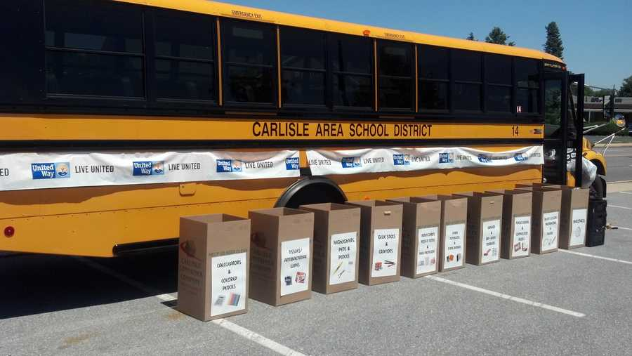 """Project SHARE in Carlisle is hosting a """"Stuff the Bus"""" event at the Walmart parking lot until 7 p.m. Wednesday."""