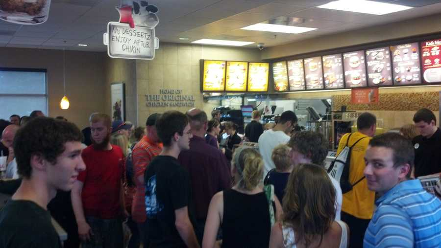 A Chick-fil-A franchise in East Lampeter Township, Lancaster County, was among the restaurants that saw a crowd.