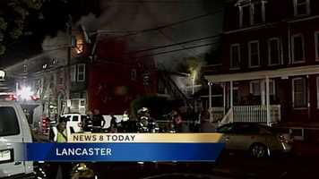 The American Red Cross is assisting 16 adults and 11 children after a suspicious Lancaster fire early Friday.