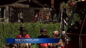 Two firefighters suffered minor injuries while battling the blaze.
