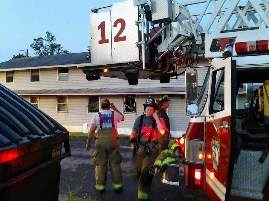 About 2:30 a.m. Thursday, the Fort Indiantown Gap Fire Department, along with 12 local fire departments from Lebanon and Dauphin counties, were called to the fire in Building 5-7, a remodeled World War II-style barracks.