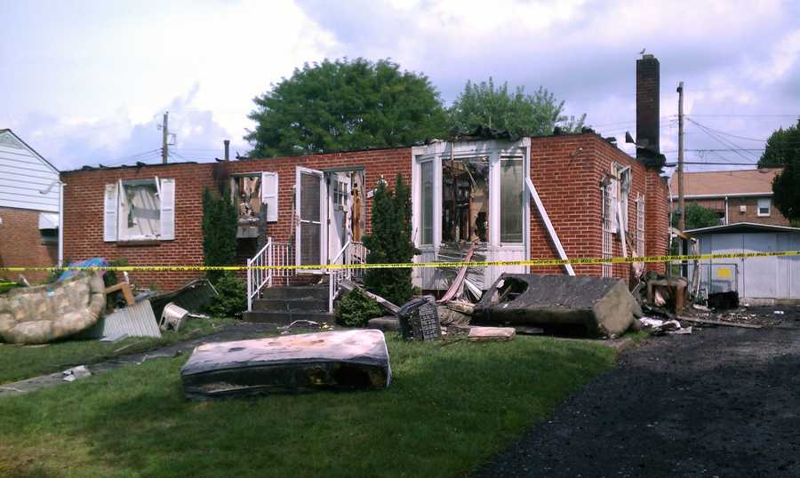 A lightning strike sparked a house fire in Susquehanna Township, Dauphin County, on Tuesday night.