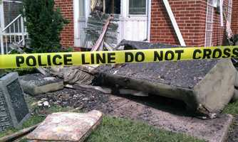 Two firefighters suffered minor injuries.
