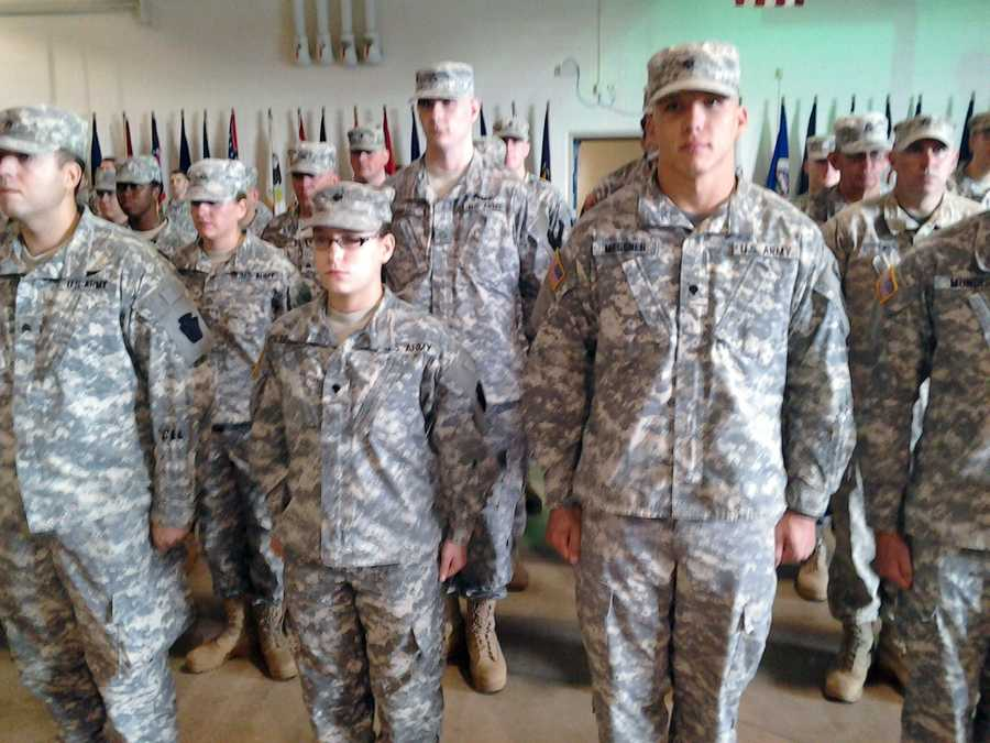 The 324 men and women are going overseas as thousands of soldiers prepare to come home as part of the U.S. troop withdrawal by the end of 2014.
