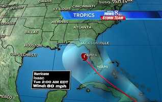 While members of the Republican National Committee will be paying close attention to now Tropical Storm Isaac, I'm looking toward later next week and the last holiday weekend of the summer. Will Isaac bring rain to the Susquehanna Valley? The official track for Isaac from the National Hurricane Center as of Thursday morning takes the storm off the coast of Tampa as a minimal hurricane by Monday night, creating headaches for the RNC. Where could the storm go from there?