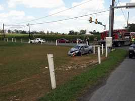 Two cars were involved in a crash in East Lampeter Township, Lancaster County, on Tuesday afternoon.