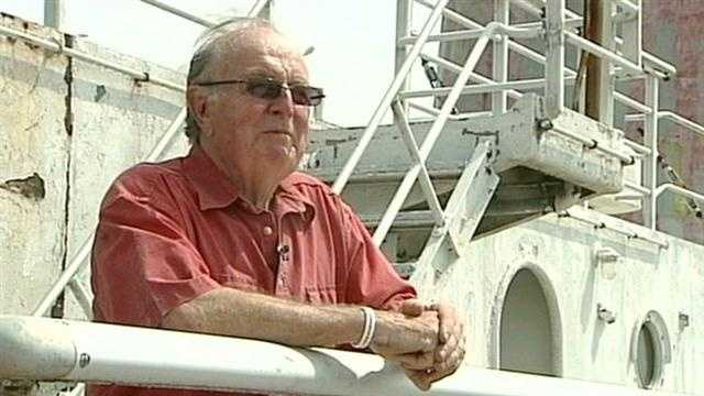 """Rota was a crew member from 1955 to 1959 and his first day as an elevator operator was memorable. """"My first day at sea, I opened up the elevator door and there was Burt Lancaster standing there with his two sons and I just blurted out 'Burt!'"""" Rota said. He later became a ship photographer."""