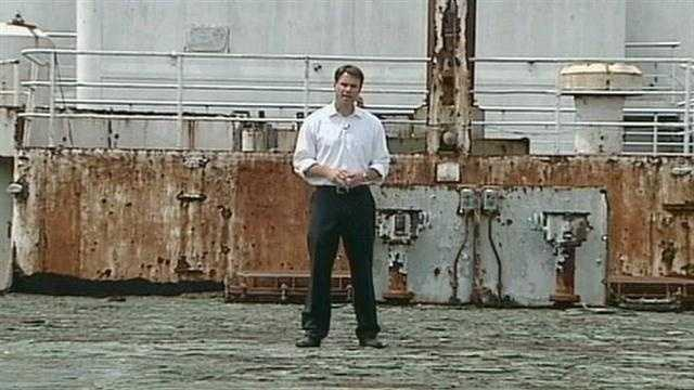 News 8's Jere Gish visited the SS United States to report on the latest effort to preserve the historic ship.