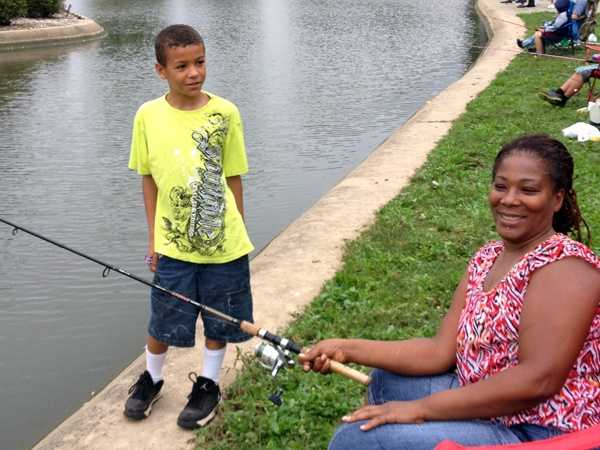 Little anglers were out at Kiwanis Lake on Labor Day for the annual fishing derby.
