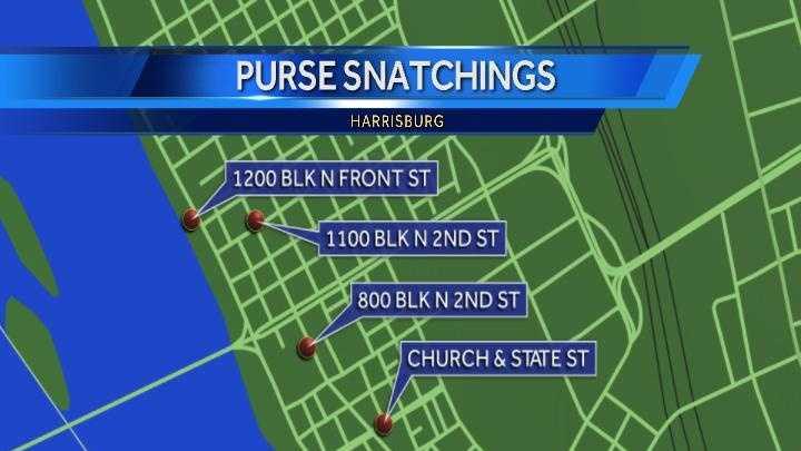 purse snatching map