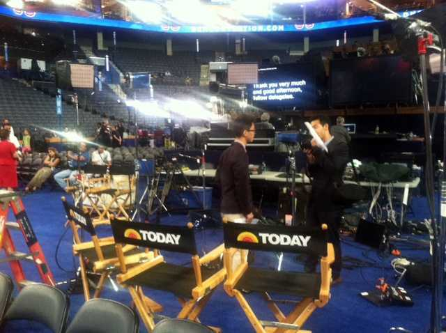 News 8 is at the Democratic National Convention. Click through these photos for a look at all the behind-the-scenes action.