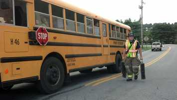 A school bus was involved in a crash in Lancaster County on Wednesday afternoon.
