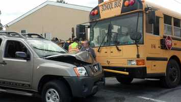 Nearly 30 Mountville Elementary school students were on the bus. No one was hurt.