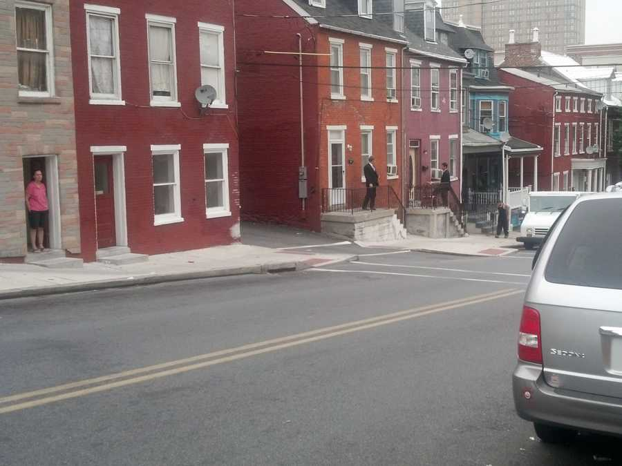Lancaster police canvassed the neighborhood Wednesday morning where an 83-year-old woman was killed in May.