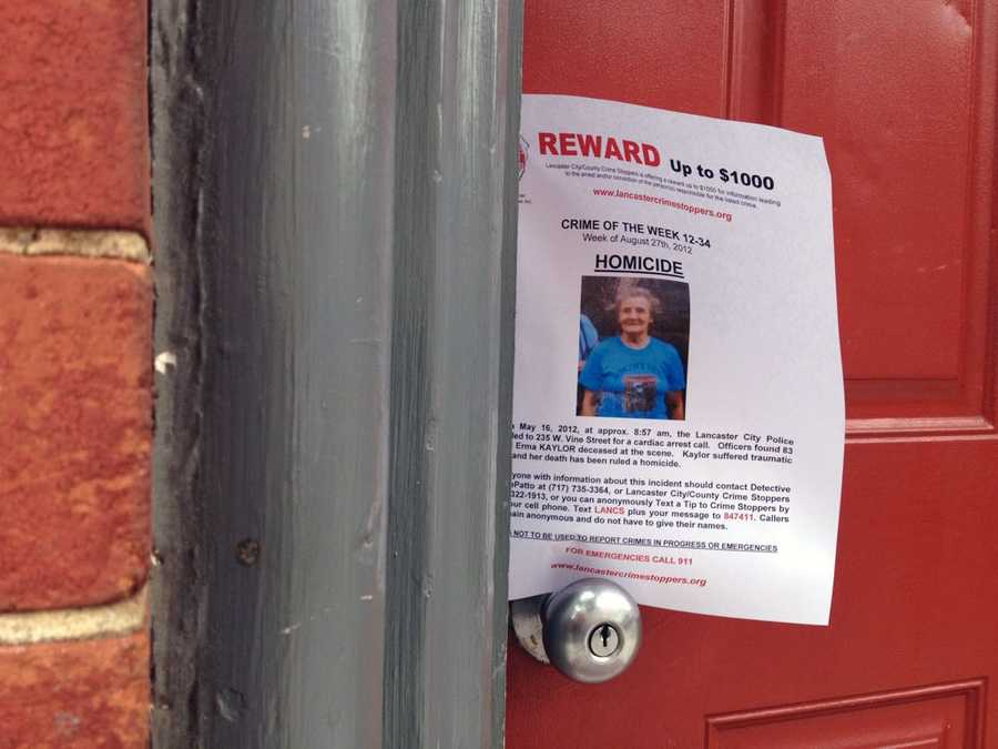 Crime Stoppers is offering a reward of up to $1,000 for information that leads to an arrest in Erma Kaylor's death.