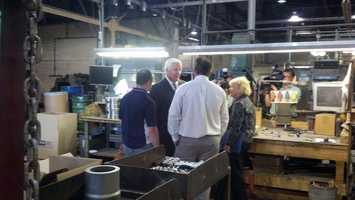 Corbett toured Pennsylvania Precision Cast Parts, which is located along North Third Avenue.