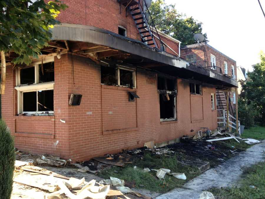 Three people have been displaced after an arson in a York apartment building.
