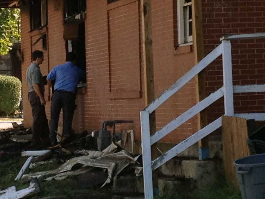 The fire broke out about 10 p.m. Wednesday in the building along South Pine Street near Springdale.