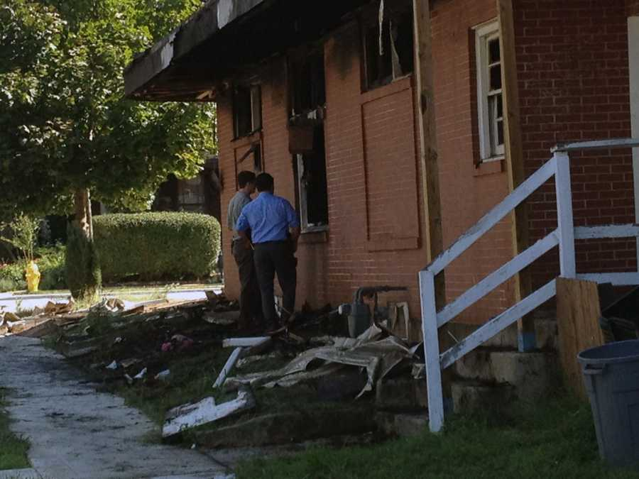 Police are investigating the fire that heavily damaged the building.