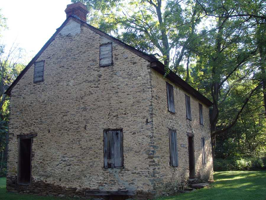 The old stone building near the park office is known as the Landis House, named for the last owner before it was acquired by the Commonwealth as part of the park. James Buchannon Long built the house in 1850 for $200.