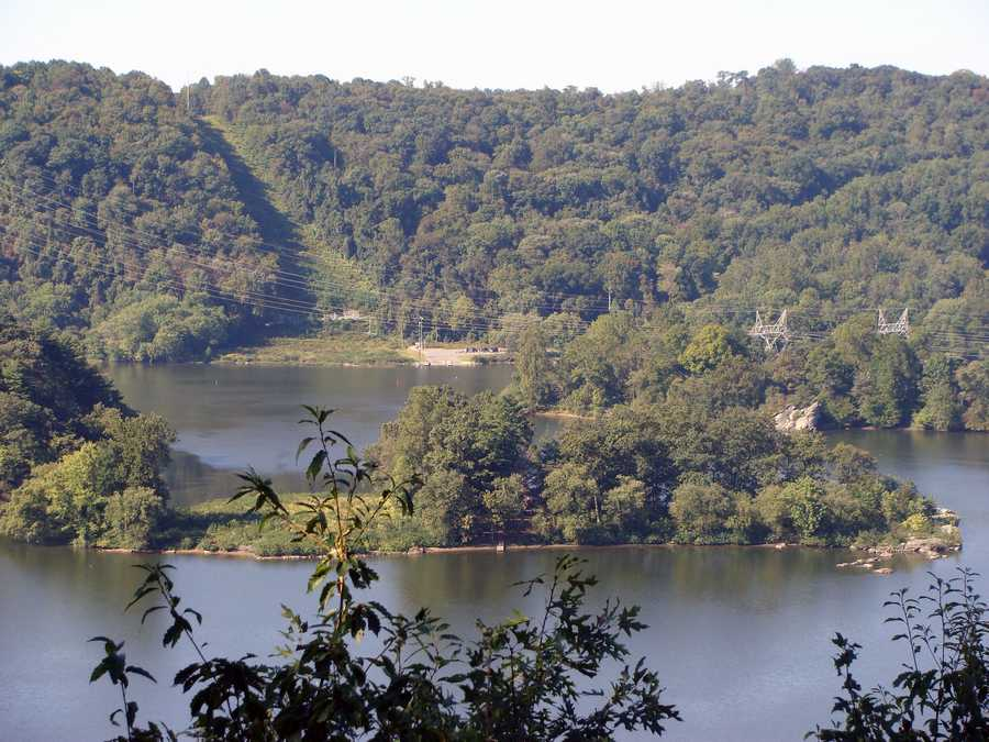 This overlook offers a view of the original rocky nature of the Susquehanna's natural riverbed ...