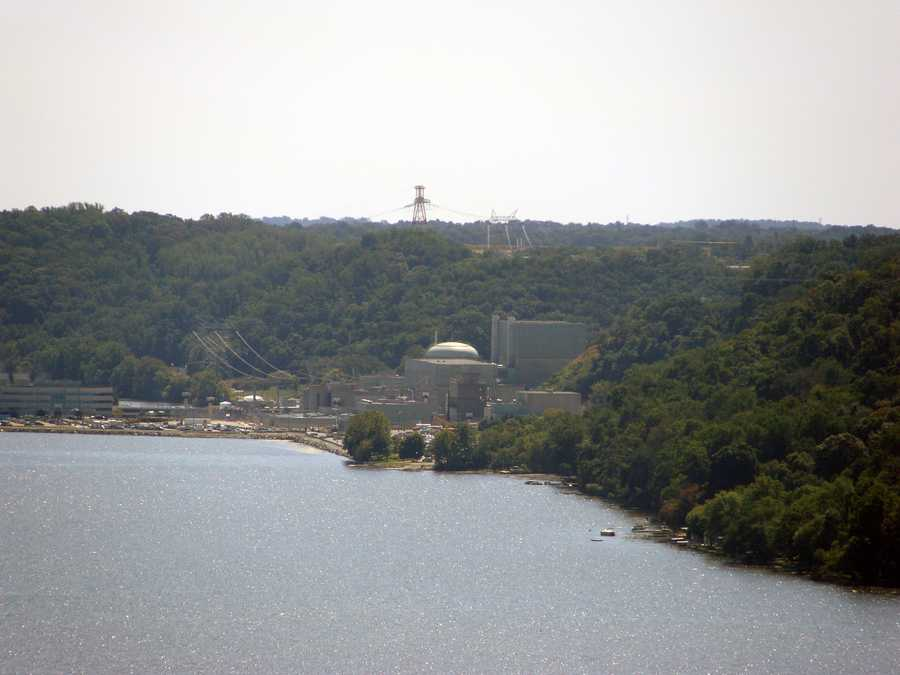 The Conowingo Dam is in northern Maryland but the reservoir straddles both Pennsylvania and Maryland, providing hydroelectric power generation and cooling water for the Peach Bottom nuclear reactors.