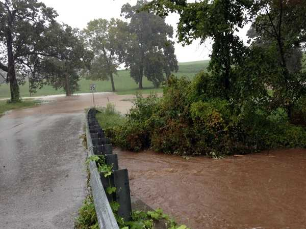 News 8's Ed Weinstock found flooding near Paradise Township, York County, along Lefever Road at 234 on Tuesday afternoon. The area is just off Route 234.