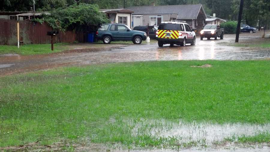 This mobile home park along the Little Conewago in Dover Township, York County, was evacuated Tuesday afternoon.