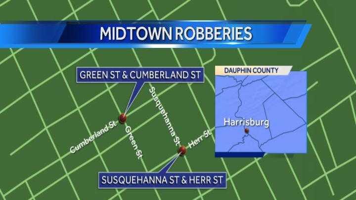 Midtown robberies