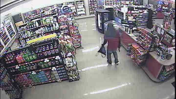 Akron police released this surveillance photo of the Turkey Hill robbery suspect.